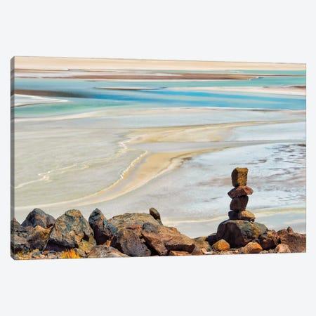 Laguna Salar de Talar with rock pile, San Pedro de Atacama, Antofagasta Region, Chile Canvas Print #KES119} by Keren Su Art Print