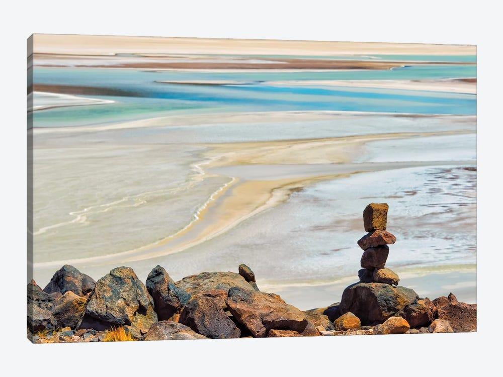 Laguna Salar de Talar with rock pile, San Pedro de Atacama, Antofagasta Region, Chile by Keren Su 1-piece Canvas Art Print