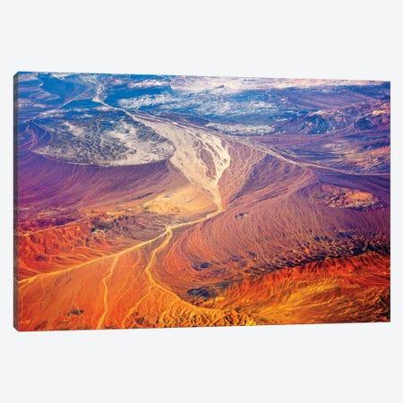 Aerial view of land pattern on Atacama Desert, Chile Canvas Print #KES120} by Keren Su Canvas Art