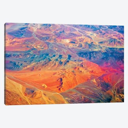 Aerial view of land pattern on Atacama Desert, Chile Canvas Print #KES121} by Keren Su Canvas Art
