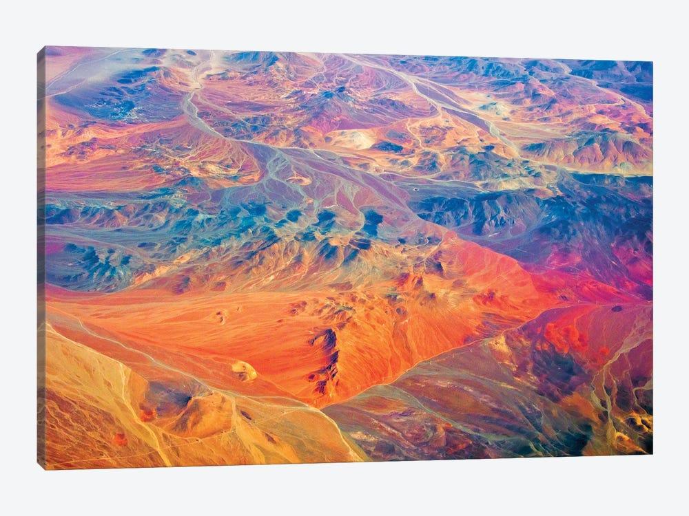 Aerial view of land pattern on Atacama Desert, Chile by Keren Su 1-piece Canvas Art