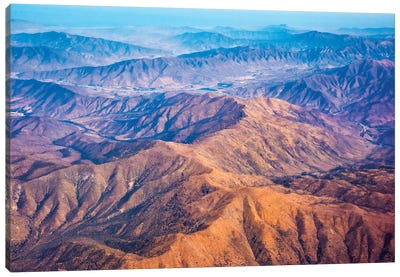 Aerial view of mountains, Atacama Desert, Chile Canvas Art Print