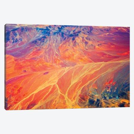Aerial view of land pattern on Atacama Desert, Chile. Canvas Print #KES123} by Keren Su Canvas Art