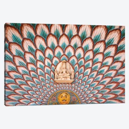 Interior Décor, City Palace, Jaipur, Rajasthan, India Canvas Print #KES1} by Keren Su Canvas Print