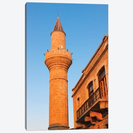 Aga Cafer Pasa Mosque, Kyrenia, Turkish Republic of Northern Cyprus Canvas Print #KES21} by Keren Su Art Print