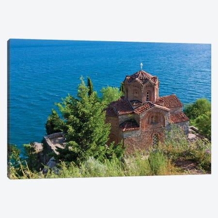 Church of St. John the Theologian at Kaneo on the shores of Lake Ohrid, Republic of Macedonia Canvas Print #KES26} by Keren Su Canvas Wall Art
