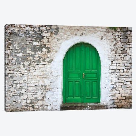 Door of an old house, Berat, Albania Canvas Print #KES27} by Keren Su Canvas Art