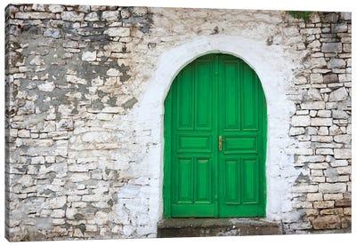 Door of an old house, Berat, Albania Canvas Art Print
