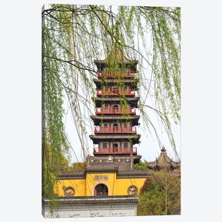 Haogu Pagoda Temple on the South Lake, Jiaxing, Zhejiang Province, China Canvas Print #KES28} by Keren Su Canvas Art Print