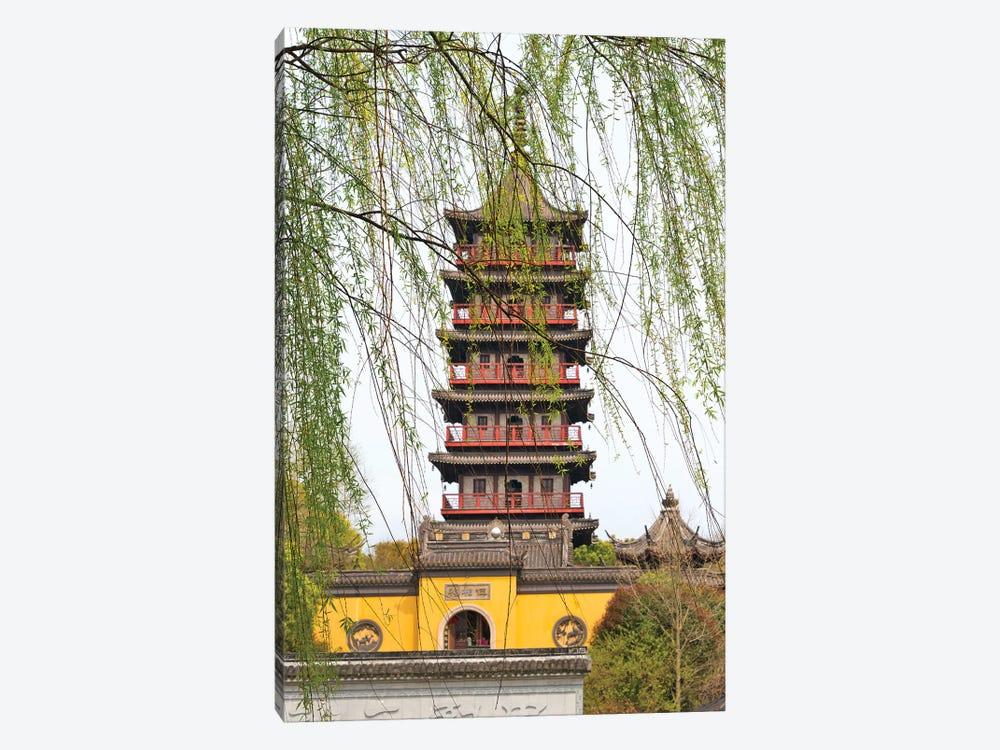 Haogu Pagoda Temple on the South Lake, Jiaxing, Zhejiang Province, China by Keren Su 1-piece Art Print