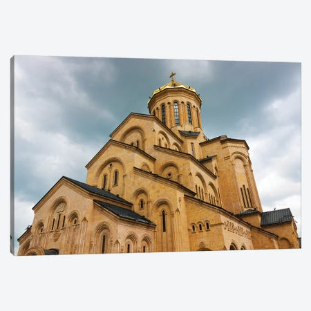 Holy Trinity Cathedral of Tbilisi, also known as Sameba, Tbilisi, Georgia Canvas Print #KES29} by Keren Su Canvas Print