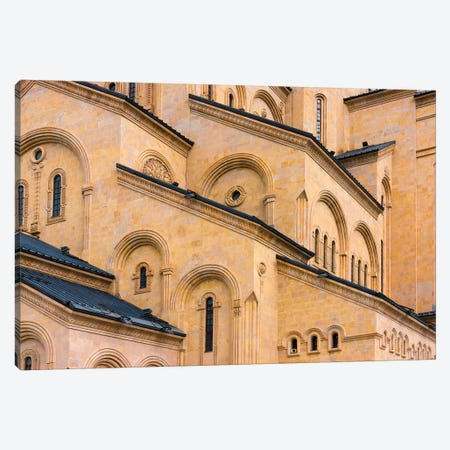 Holy Trinity Cathedral of Tbilisi, also known as Sameba. Tbilisi, Georgia. Canvas Print #KES31} by Keren Su Canvas Art