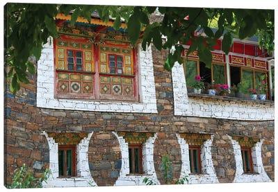 Old house in Zhuokeji Headman's Village, Ngawa Tibetan and Qiang Autonomous Prefecture, China Canvas Art Print