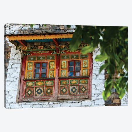 Old house in Zhuokeji Headman's Village, Ngawa Tibetan and Qiang Autonomous Prefecture, China Canvas Print #KES42} by Keren Su Art Print