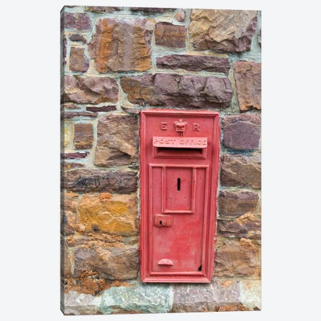 Postal drop box in the old town, Simon's Town, South Africa Canvas Print #KES43} by Keren Su Canvas Art Print