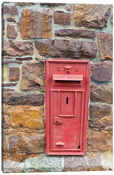 Postal drop box in the old town, Simon's Town, South Africa Canvas Art Print