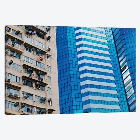 Residential building, Hong Kong, China Canvas Print #KES45} by Keren Su Canvas Wall Art