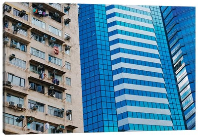 Residential building, Hong Kong, China Canvas Art Print
