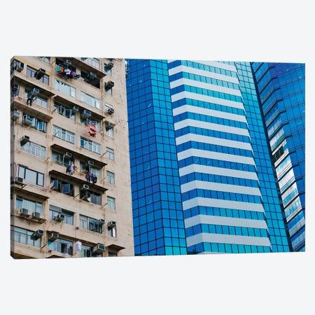 Residential building, Hong Kong, China Canvas Print #KES45} by Keren Su Canvas Wall Art
