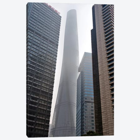 Shanghai Tower and high-rise in Pudong, Shanghai, China Canvas Print #KES47} by Keren Su Canvas Wall Art