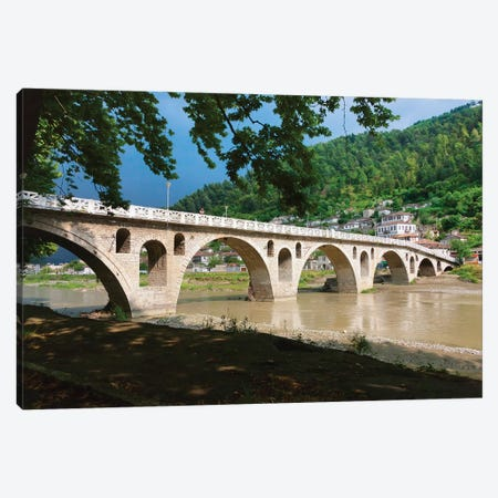 Stone bridge over River Osum, Berat, Albania Canvas Print #KES48} by Keren Su Canvas Print