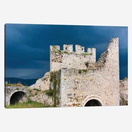 The citadel and castle of Berat (UNESCO World Heritage Site), Albania Canvas Print #KES50} by Keren Su Canvas Artwork