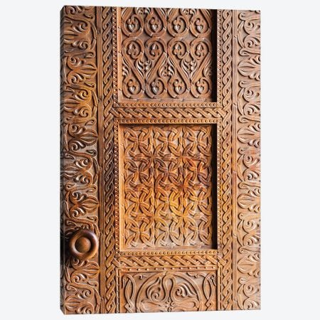 Wooden door, Holy Trinity Cathedral of Tbilisi, also known as Sameba, Tbilisi, Georgia Canvas Print #KES57} by Keren Su Art Print