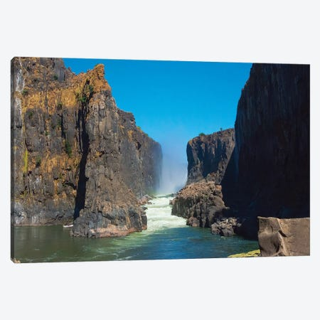 Bottom of Victoria Falls, Zimbabwe Canvas Print #KES60} by Keren Su Art Print
