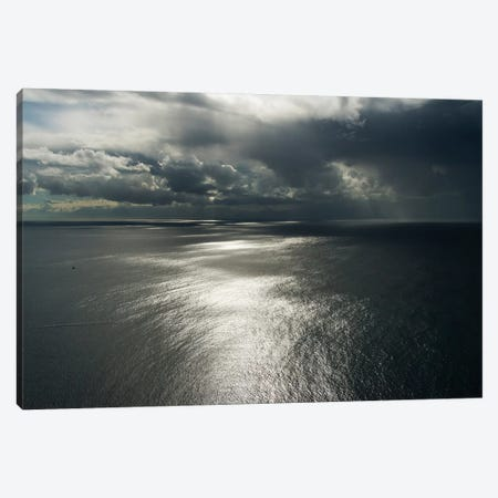 Clouds above ocean. Cape Point, Cape Peninsula, South Africa 3-Piece Canvas #KES62} by Keren Su Art Print