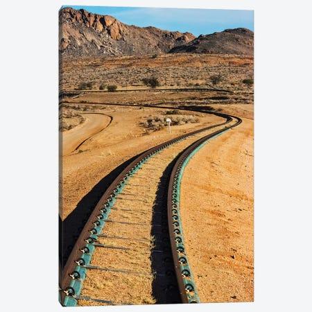 Railway tracks through southern Namib Desert, Karas Region, Namibia Canvas Print #KES86} by Keren Su Canvas Art