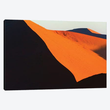 Red sand Dune 45 in southern Namib Desert. Sossusvlei, Namib-Naukluft NP, Hardap Region, Namibia Canvas Print #KES87} by Keren Su Canvas Wall Art