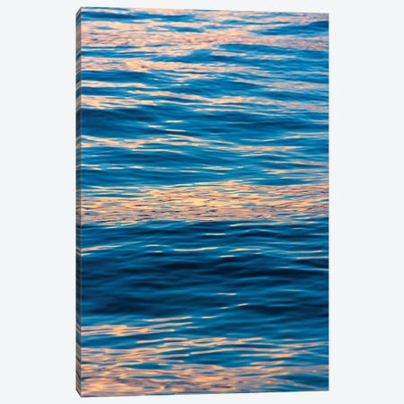 Ripples at sunrise, Lake Ohrid, Republic of Macedonia Canvas Print #KES91} by Keren Su Canvas Artwork
