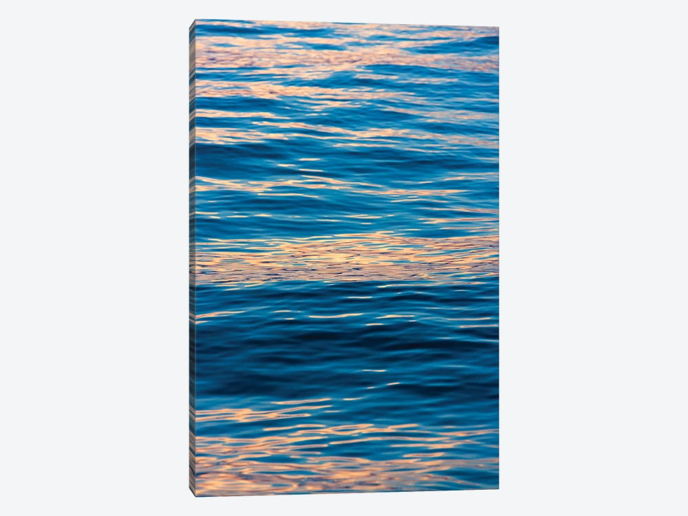 Ripples at sunrise, Lake Ohrid, Republic of Macedonia by Keren Su 1-piece Canvas Print
