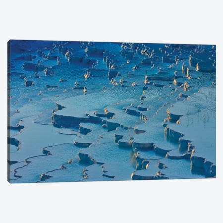 Travertine terraces of Pamukkale (UNESCO World Heritage Site), Turkey Canvas Print #KES99} by Keren Su Canvas Artwork
