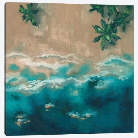 Blue Shore Canvas Print #KEU3} by Danusia Keusder Art Print