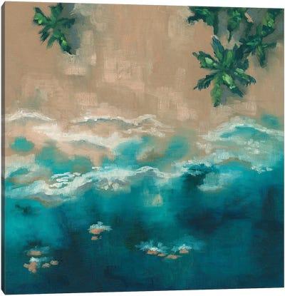 Blue Shore Canvas Art Print