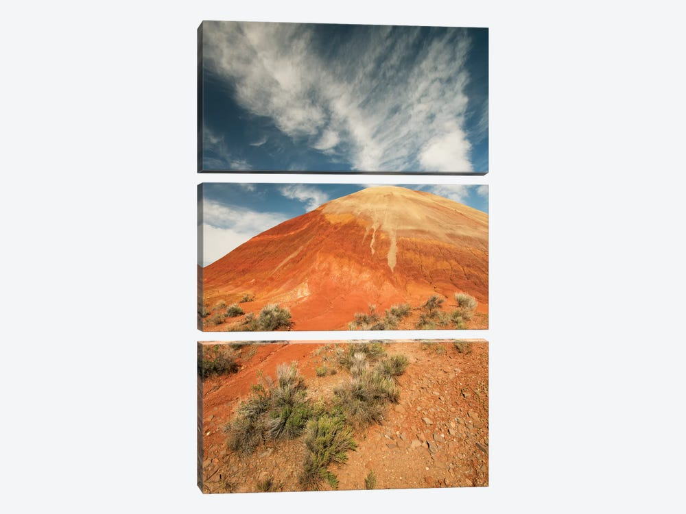 Bentonite Clay Deposits, Painted Hills, John Day National Monument, Oregon by Kevin Schafer 3-piece Canvas Print