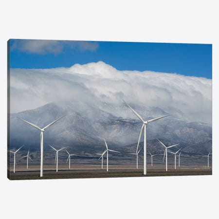 Wind Turbines, Schell Creek Range, Nevada Canvas Print #KEV6} by Kevin Schafer Canvas Print