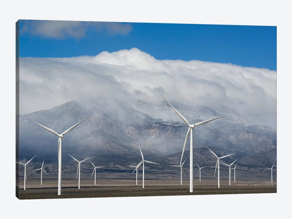Wind Turbines, Schell Creek Range, Nevada by Kevin Schafer 1-piece Canvas Artwork