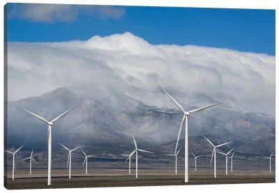 Wind Turbines, Schell Creek Range, Nevada Canvas Art Print