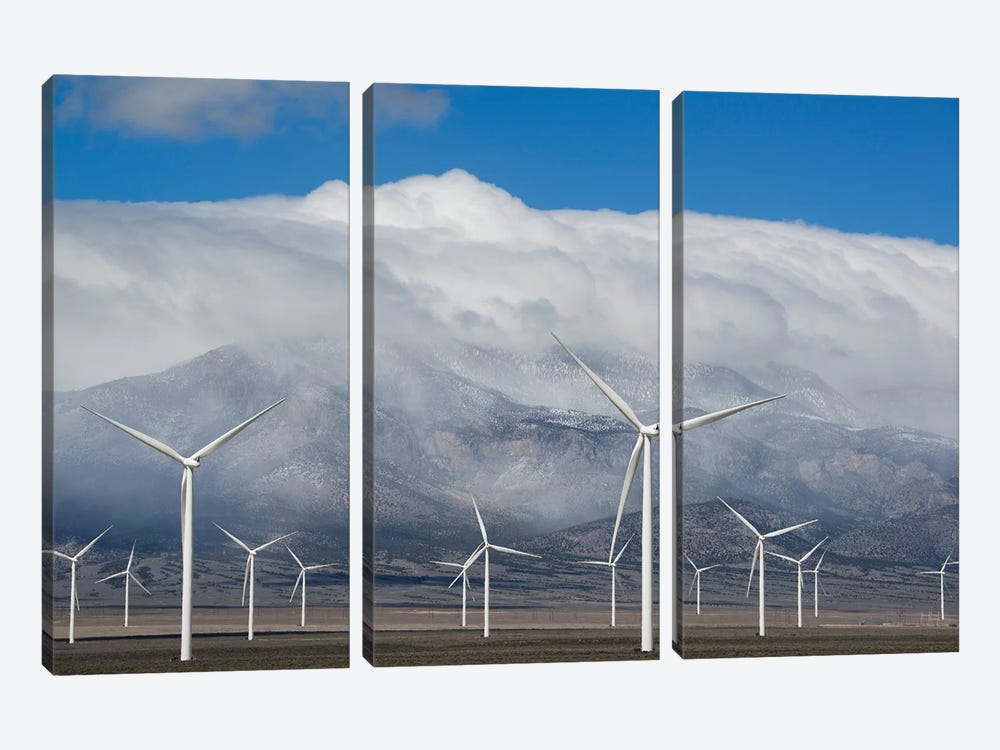 Wind Turbines, Schell Creek Range, Nevada by Kevin Schafer 3-piece Canvas Art