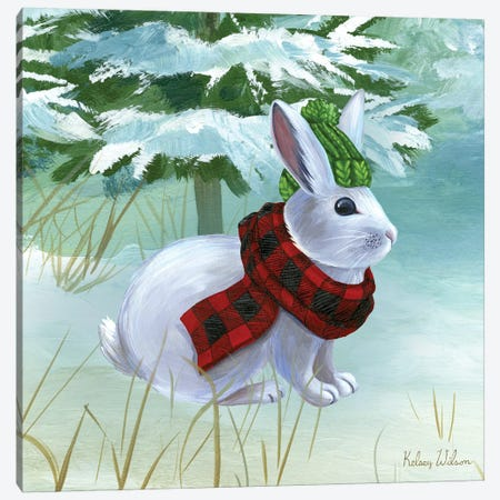Winterscape III-Rabbit Canvas Print #KEW10} by Kelsey Wilson Canvas Wall Art