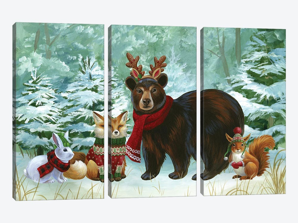 Winterscape landscape by Kelsey Wilson 3-piece Canvas Art Print