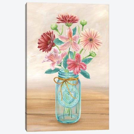 Floral Jar I Canvas Print #KEW1} by Kelsey Wilson Canvas Art Print