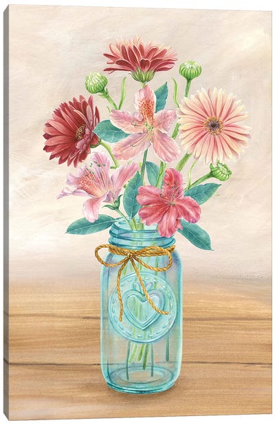 Floral Jar I Canvas Art Print