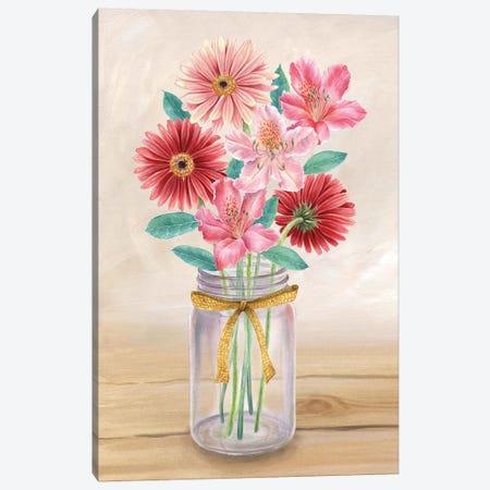 Floral Jar II Canvas Print #KEW2} by Kelsey Wilson Canvas Art Print