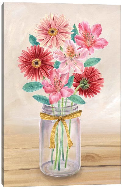 Floral Jar II Canvas Art Print