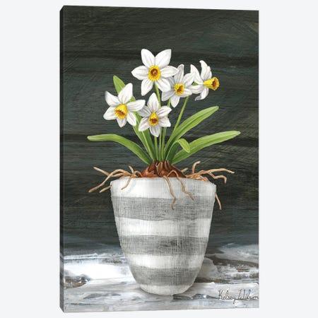 Farmhouse Garden II-White Daffodils Canvas Print #KEW30} by Kelsey Wilson Canvas Art