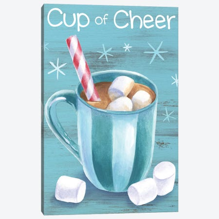 Peppermint Cocoa I-Cup of Cheer Canvas Print #KEW5} by Kelsey Wilson Canvas Artwork