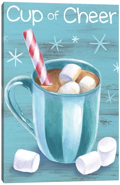 Peppermint Cocoa I-Cup of Cheer Canvas Art Print